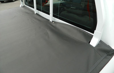 Fitted soft folding tonneau cover
