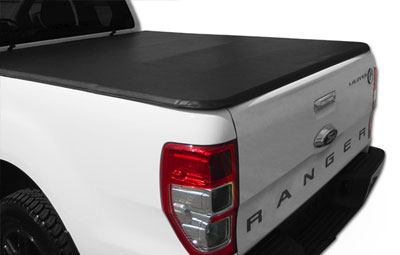 Tri folding load bed cover on a Ford Ranger