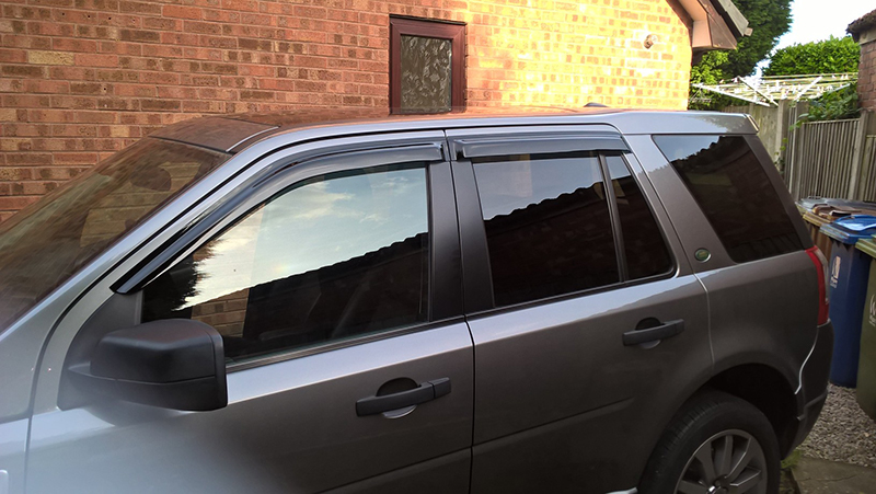 Freelander fitted with window deflectors