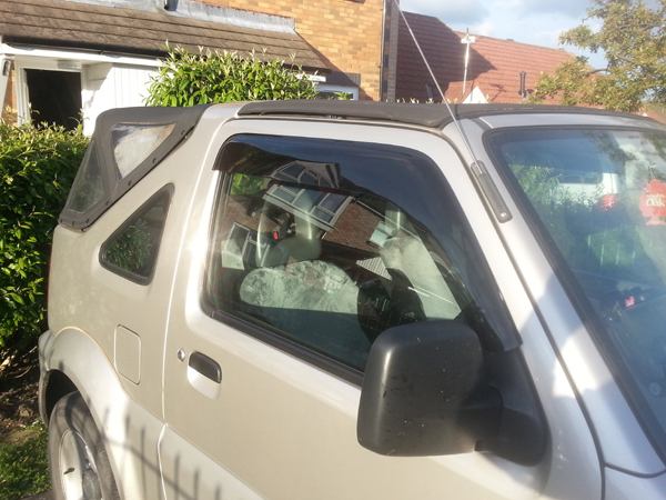 Suzuki Jimny fitted with window visors