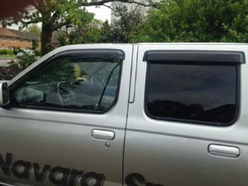 Nissan Navara D23 fitted with Window Deflectors