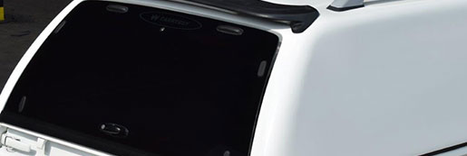 Glass Rear Door on a Hard Top Canopy