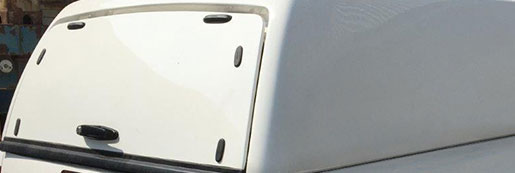 Solid Rear Door on a Truck Top Canopy