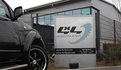 Pickup truck outside 4x4 Accessories & Tyres in Leeming Bar