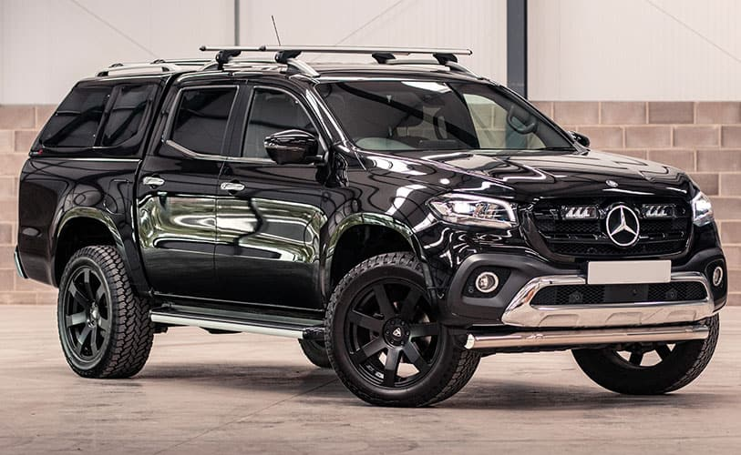 Mercedes-Benz X-Class with Leisure hard top, lighting and black alloy wheels