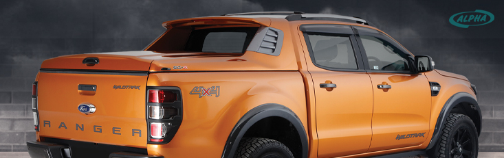 Ford Ranger fitted with Alpha SCZ hard top